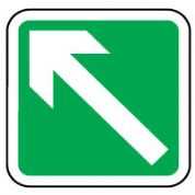 Safe Safety Sign - Arrow 45 Left Down 030